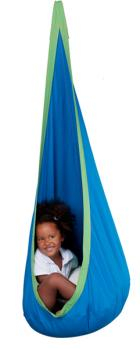 Hanging Crows Nest Swing - Cotton Indoor Blue/Green