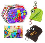 Let's Race! 2 Mini Monster Zip-its & Robot/Dino Bits game