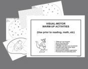 visual motor warm up sheets
