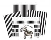 assorted zebra paper